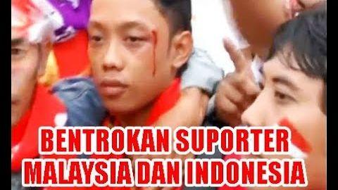 RUSUH SUPORTER MALAYSIA DENGAN SUPORTER INDONESIA DI BUKIT JALIL