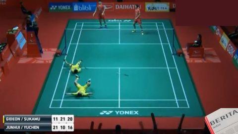 Menangi Duel Panas Kevin Sanjaya dan Marcus Gideon Juara Indonesia Masters 2018