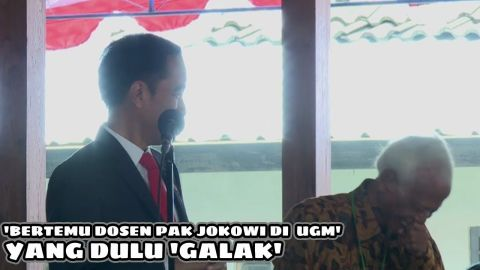 P Jokowi Ledekin Pak Kasmujo 'DULU GALAK SEKALI'