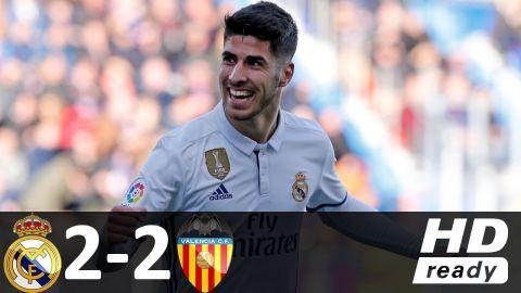 Real Madrid vs Valencia 2-2 - All Goals & Highlights - La Liga 27/08/2017 HD