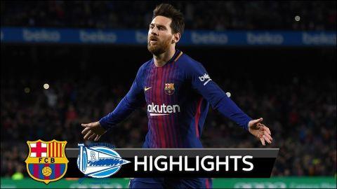 Barcelona vs Alaves 2-1 - All Goals & Extended Highlights - La Liga 28/01/2018 HD