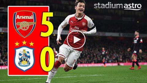 FT Arsenal 5 - 0 Huddersfield