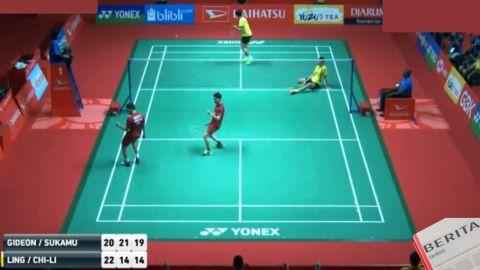 Terlambat Panas Kevin Sanjaya/Marcus Gideon Tetap Lolos Ke Babak Semifinal Indonesia Masters 2018