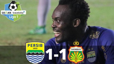 Persib Bandung  vs Bhayangkara FC 1-1 - All Goals & Highlight - Liga 1 - 24/09/2017