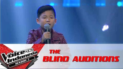 Gilbert |Be-Bop-A-Lula| | The Blind Auditions | The Voice Kids Indonesia Season 2 GlobalTV 2017