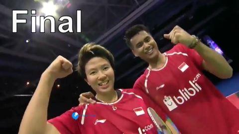 2017 World Championships XD Final | Tontowi Ahmad Liliyana Natsir vs Zheng Siwei Chen Qingchen
