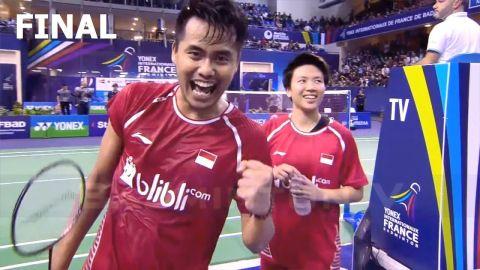Badminton 2017 French Open Final Tontowi AHMAD Liliyana NATSIR vs ZHENG Siwei CHEN Qingchen