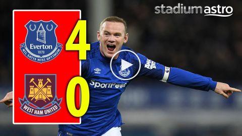 FT Everton 4 - 0 West Ham