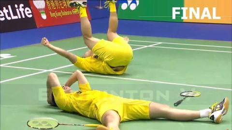 2017 Hong Kong Open Final Kevin Sanjaya SUKAMULJO Marcus GIDEON vs Mads CONRAD PETERSEN Mads KOLDING
