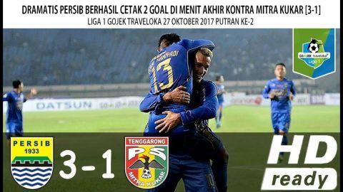 Persib vs Mitra Kukar 27 Oktober 2017 [3-1] Liga 1 Gojek Traveloka Indonesia