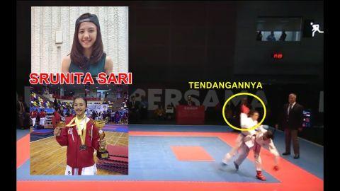 NGERI...!! Tendangannya  Atlet Cewek Karate Indonesia di Sea Games  Malaysia 2017