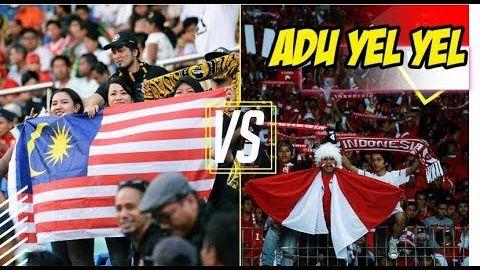 MENYINGGUNG,! BEDANYA ADU YEL YEL INDONESIA & MALAYSIA Di Stadion  Sepak Bola Sea Games
