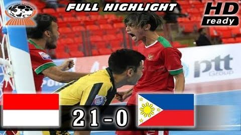 Indonesia Bungkam Philiphina 21-0 AFF Futsal Championship 2017 Full Highlights 26/10/2017