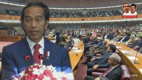 Anggota DPR Pakistan Tepuk Tangan Sampai Pukul2 Meja Dengar Pidato Presiden Jokowi