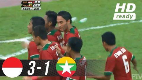 INDONESIA U22 vs MYANMAR U22 (3-1) | FULL highlights All Goal | SEA games 2017