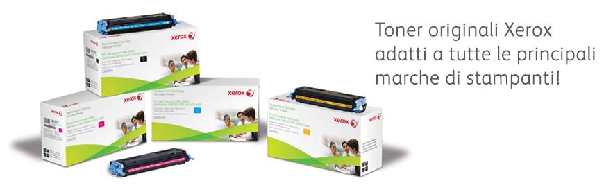 Toner originali Xerox adatti a tutte le principali marche di stampanti!