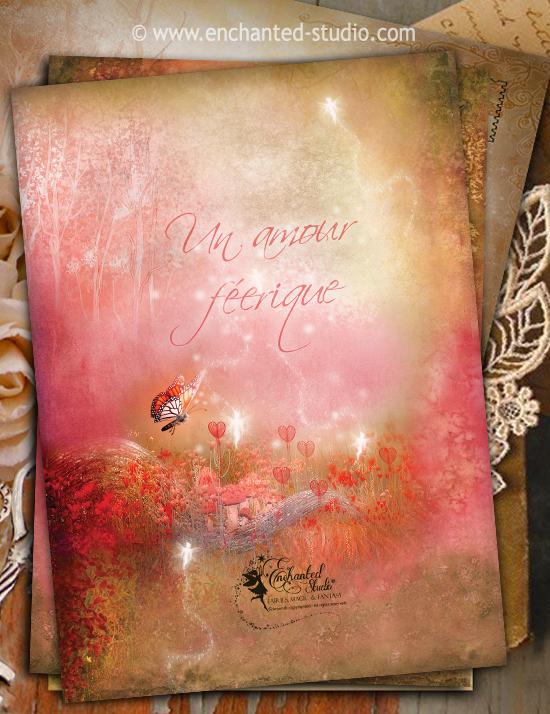 carte postale feerique, carte postale feerique saint valentine, f-e saint valentine