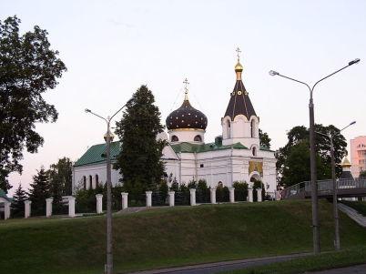 Kostel sv. Mary Magdalene - https://commons.wikimedia.org/wiki/File:Belarus-Minsk-Church_of_Mary_Magdalene-3.jpg