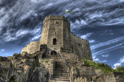 Cardiffský hrad - https://www.flickr.com/photos/max-design/4001061277/