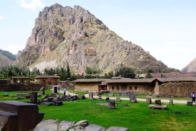 Ruiny v Ollantaytambo -