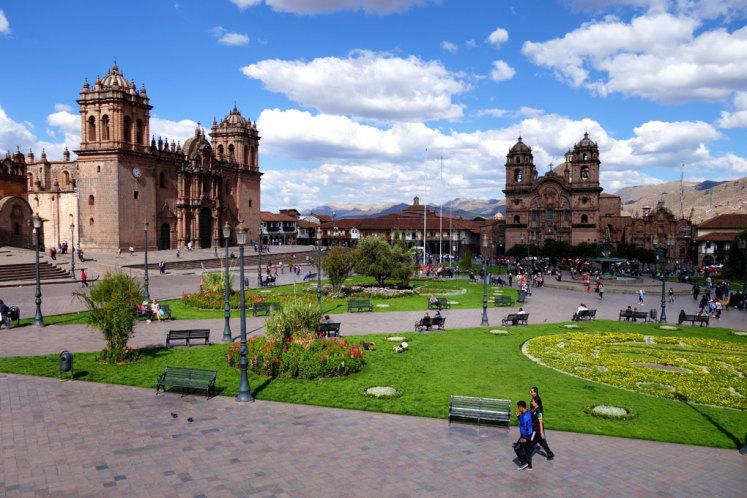 Plaza des Armas v Cusco