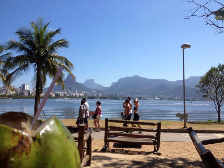 Lagoa Rodrigo de Freitas – fajn místo na víkendovou procházku. V symbióze s obyvateli si tu uprostřed města žijí Kapybary