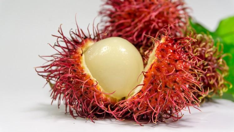 Zářivý rambutan s úžasnou chutí s nízkou cenou v JV Asii