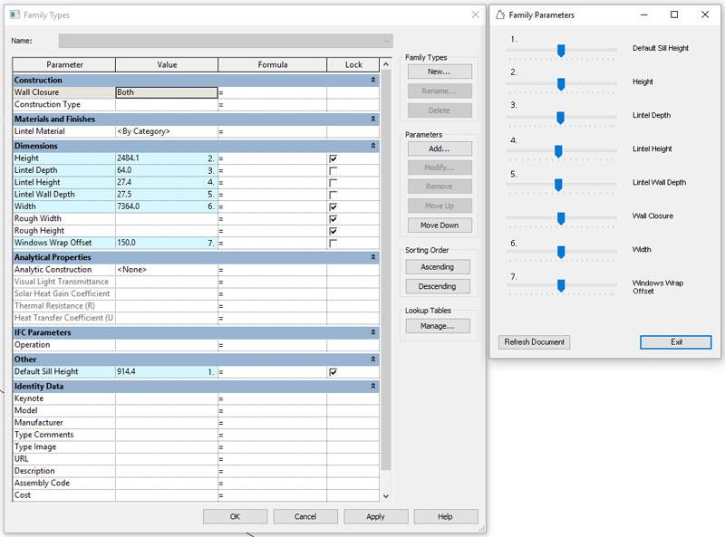 FEI - exposing parameters