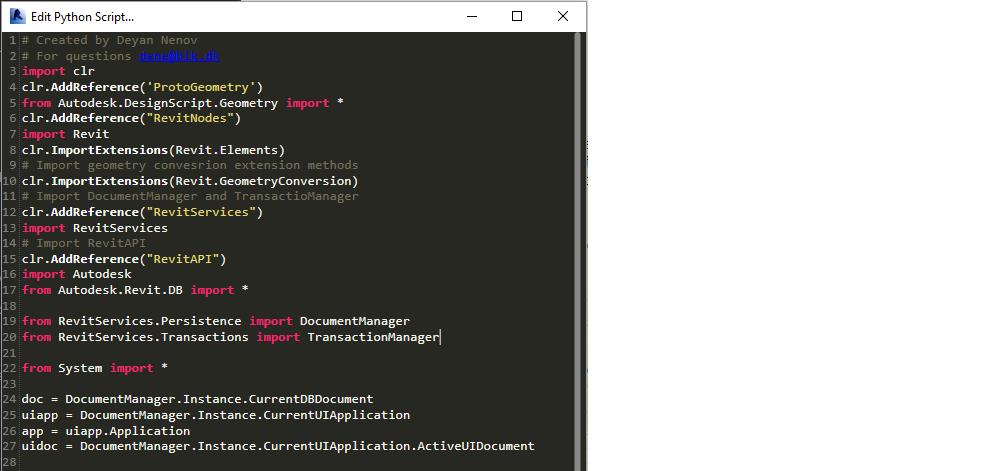 python dynamo import statements