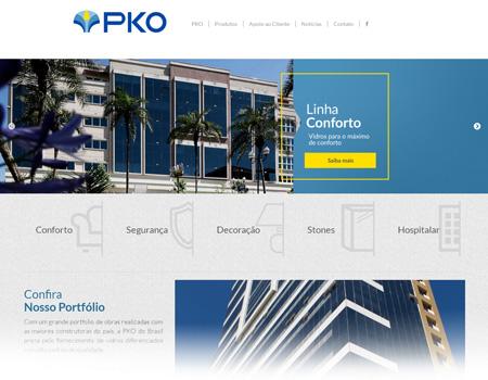 PKO do Brasil lança site moderno e com área de Especificação Técnica de Vidros