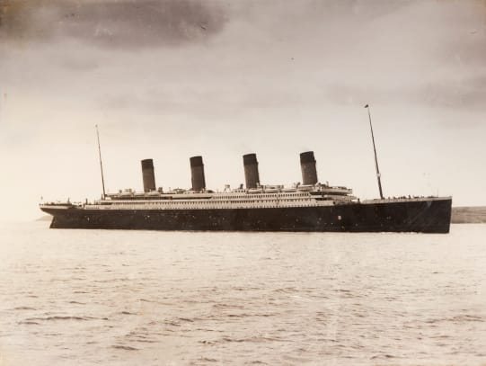 The 46 328 Tons Rms Titanic Of The White Star Line Which Sank At 2 20 Am Monday Morning April 15 After Hitting Iceberg In North Atlantic 1912