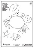 National Bookstart Week 2016: crab and squid colouring-in sheets