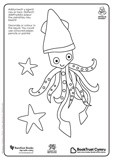 National Bookstart Week 2016: bilingual crab and squid colouring-in sheets in Welsh and English - PDF