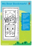 Bear's Reading Adventure A4 bookmark activity sheet