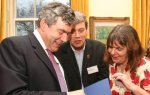 Julia Donaldson, Axel Scheffler and Gordon Brown
