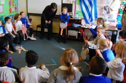 Anthony Browne visits Midfield Primary School