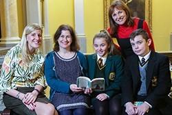 Children meet author Sheena Wilkinson at Belfast Harbour