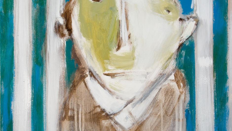 HENRY FRASER  The Prisoner  acrylic, 60cm x 60cm