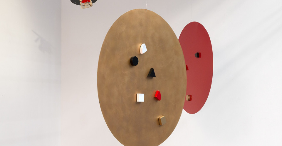 Li Yuan-chia, Points, Paint on metal, magnets, 1980s. Courtesy Richard Saltoun Gallery.