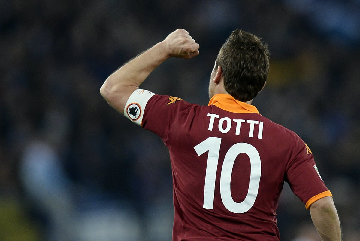 Francesco Totti s top 10 Rome derby moments