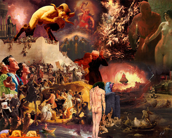 Holy Wars, fotomontagem feita por Gideon Wright