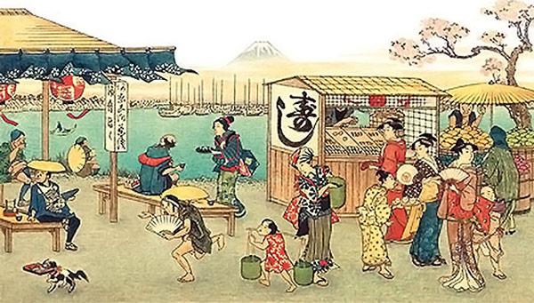 Inicialmente, o Sushi era vendido em barracas