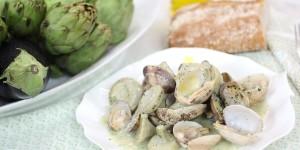 Alcachofas con almejas, una receta muy sencilla.