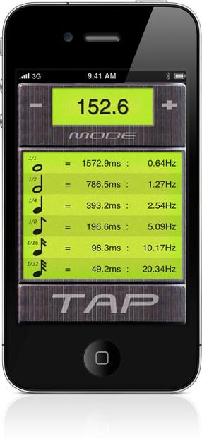 BPM Tap Tempo BPM Calculator screenshot
