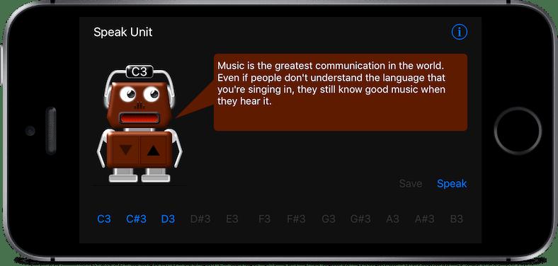 Speak Unit iOS app screenshot
