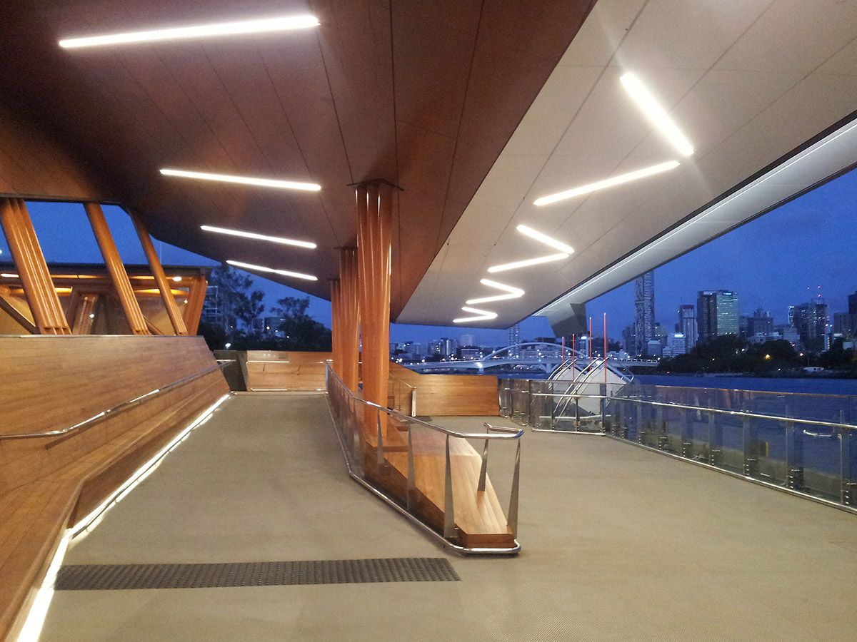 Brisbane Ferry Terminals, Covered Ramp