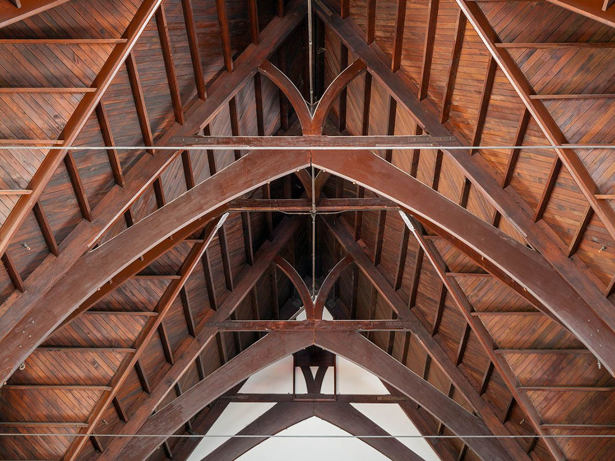 Knox Church, wooden roof