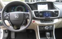2014 Honda Accord Hybrid - steering wheel and instrument panel.JPG