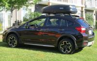 2013 Subaru Crosstrek - with roof rack and box.JPG