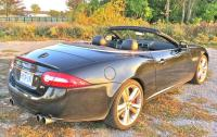 2013 Jaguar XKR - rear 3/4 view top down.JPG
